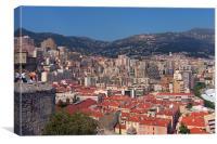 Monaco view, Canvas Print