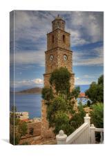 Nimborio Clock Tower, Canvas Print