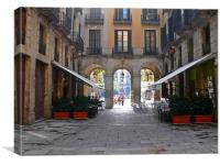Plaça Reial, Barcelona, Canvas Print