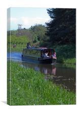 Union Canal Narrow Boat, Canvas Print