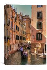Gondola on the Rio Fuseri, Canvas Print