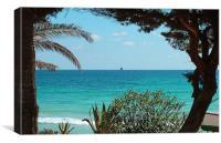 Cala Nova, Ibiza, Canvas Print