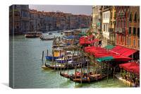 Parking Spaces (Venice Style), Canvas Print