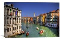 Light Traffic on the Grand Canal, Canvas Print