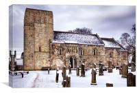 St Cuthberts Church at Dalmeny, Canvas Print