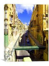 A street in Valletta, Canvas Print