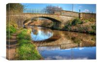 Union Canal Bridge, Canvas Print
