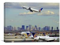 Newark Airport, Canvas Print