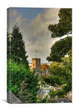 Town House through the trees, Canvas Print