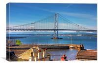 Bridge and Harbour, Canvas Print