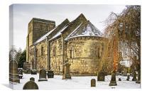 Dalmeny Parish Church, Canvas Print
