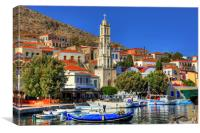Church and Harbour, Canvas Print