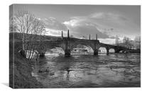 Wade's Bridge at Aberfeldy - B&W, Canvas Print