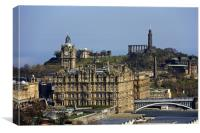 The Balmoral Hotel from the Castle, Canvas Print