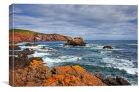 St. Abbs Rocks, Canvas Print