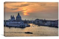 Grand Canal Sunset, Canvas Print