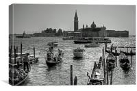 Giudecca Canal - B&W, Canvas Print