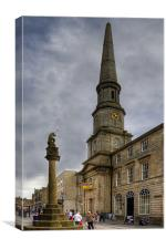 Mercat Cross and Guildhall, Canvas Print