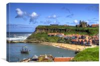 The Endeavour in Whitby Harbour, Canvas Print
