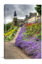 Lavender in the Park, Canvas Print