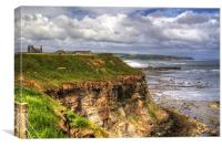 The East Cliff, Canvas Print