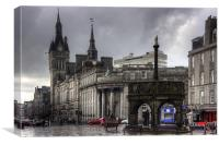 The Castlegate in the driving rain, Canvas Print