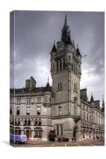 Aberdeen New Town House, Canvas Print
