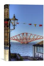 Bridge and Bunting, Canvas Print