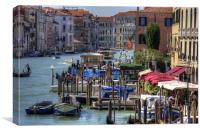 The Busy Grand Canal, Canvas Print