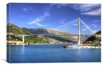 Franjo Tudman Bridge, Canvas Print