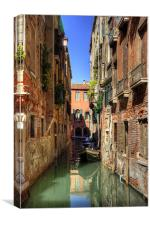 A canal in Sestiere di San Polo, Canvas Print