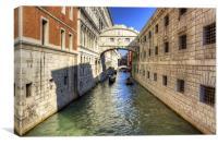 Ponte dei Sospiri, Canvas Print