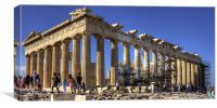 Never ending repairs to the Parthenon, Canvas Print