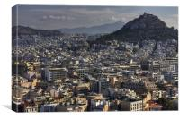 The highest point in the city, Canvas Print