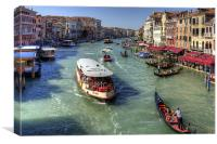 Traffic on the Grand Canal, Canvas Print