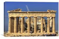 Heavy Lifting Gear in the Parthenon, Canvas Print