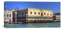 Doges Palace from the Giudecca Canal, Canvas Print