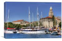 The Harbour at Split, Canvas Print