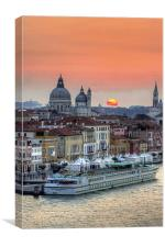 Sunrise over Venice, Canvas Print