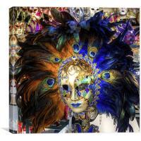 Venetian Carnival Mask, Canvas Print
