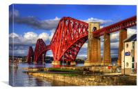 Hawes Pier Slipway and Forth Bridge, Canvas Print