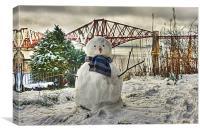 Snowman - cropped, Canvas Print