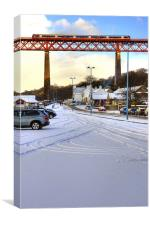 Queensferry Promenade in the snow, Canvas Print