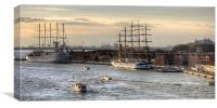 When 4 masts are just not enough, Canvas Print
