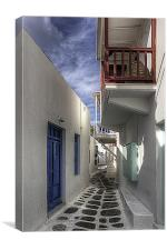Mykonos Balcony, Canvas Print