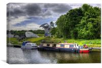The Forth and Clyde Canal, Canvas Print