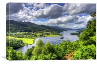 Looking over Loch Tummel, Canvas Print