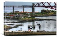 North Queensferry Harbour, Canvas Print
