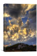 Clouds over Pueblo Espárragos, Canvas Print