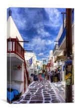 Market Day in Mykonos, Canvas Print